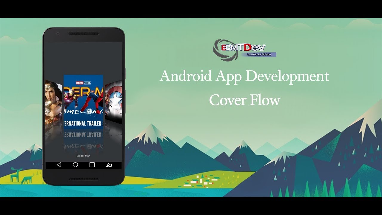 android studio tutorial cover flow youtube