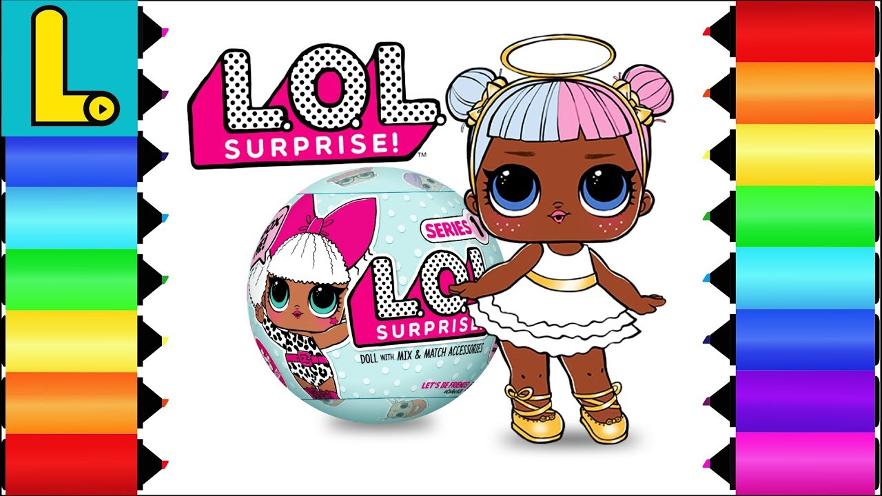 coloring and drawing lol surprise doll sugar ||| printable