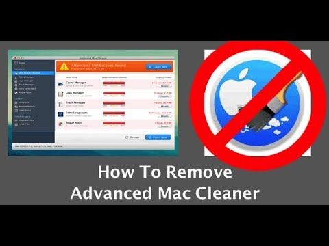 How to get rid of advanced mac cleaner on computer