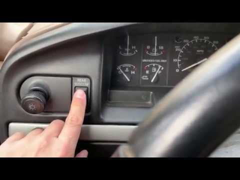 Ford Bronco rear window working with the dash switch