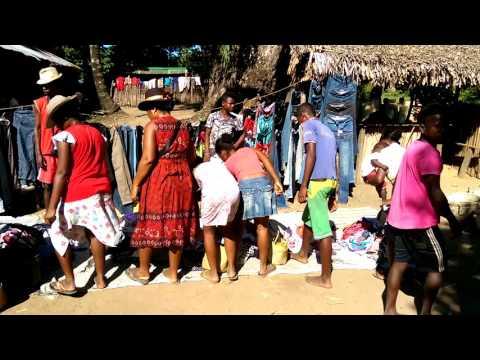 A market in Madagascar