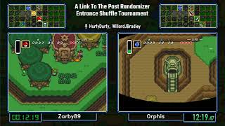 Zarby89 vs Orphis.  A Link To The Past Entrance Shuffle Tournament 2017