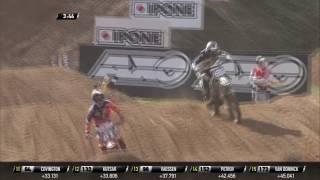 MXGP of Latvia Conrad Mewse passes Jorge Prado