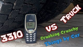 Crazy Experiment Nokia 3310 vs Truck - Crushing Crunchy & Soft Things by Car!