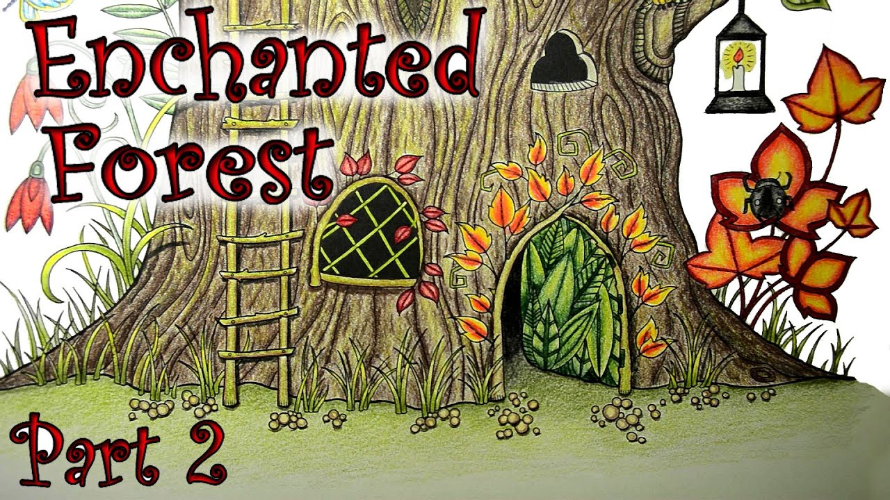 - Coloring Book Tutorial Enchanted Forest Tree Stump With Colored