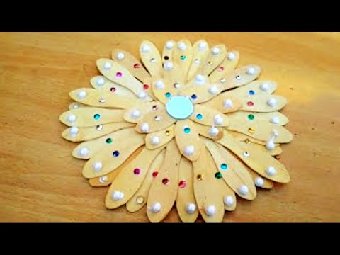 How To Make Wooden Spoon Flower Craftआइसकरम क चममच स फल कस बनए