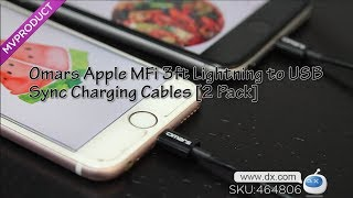 Omars Apple MFi 3ft Lightning to USB Sync Charging Cables [2 Pack]