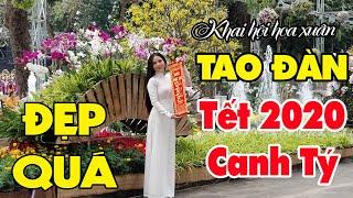 Khai hội hoa xuân Tao Đàn gặp em gái đi chơi Tết đẹp triệu người mê quên cả lối về