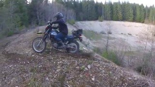 monster hill climb (sort of) Dr650 owns it!