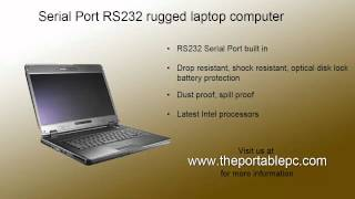Built In RS232 serial port rugged laptop notebook computer