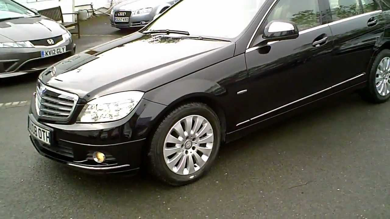 2008 mercedes c220 cdi elegance diesel automatic black youtube. Black Bedroom Furniture Sets. Home Design Ideas