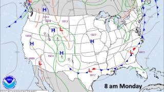 Surface Weather Map Animation Sunday Night 9 21 14 Through Tuesday 9 23 14