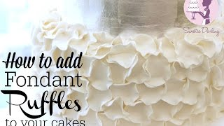 How To Decorate A Cake With Fondant Ruffles