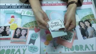 牧莎DIY手藝教室-KAISERCRAFT 2016 Party time/Birthday生日派對相片美編作品分享part2