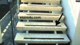 Non Skid Stair Tape On Smooth Exterior Steps - Stairway Safety