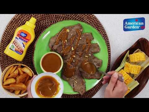 Grilled Honey Mustard Steak – American Garden BBQ