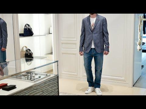 Мужской пиджак от ISAIA, шелк, Review: ID 161442