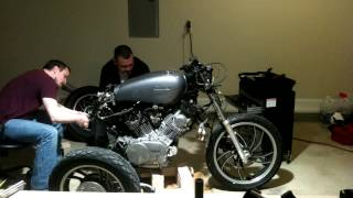 82 Virago cafe racer build break down part 2