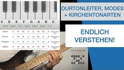 Durtonleiter, Modes und Kirchentonleitern endlich verstehen - (nicht) nur für Gitarristen