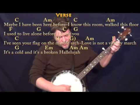 Hallelujah (Rufus Wainwright) Banjo Cover Lesson with Chords ...