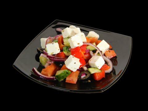 Салат греческий, пошаговый рецепт с фото
