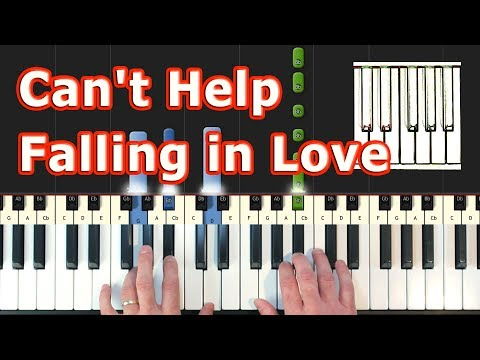 Can't Help Falling In Love - Piano Tutorial - Elvis Presley  (Synthesia)