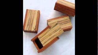 Wooden boxes for crafts