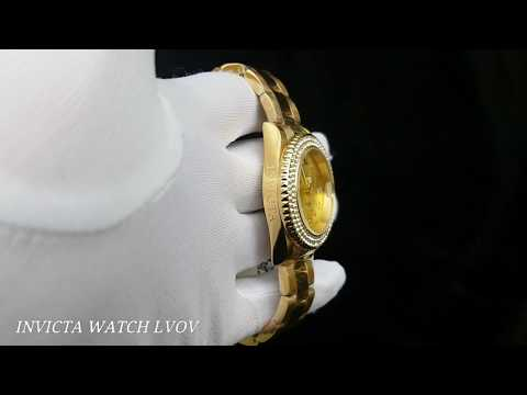 Женские часы Invicta 19124 Angel Gatawey Swiss Yellow Gold