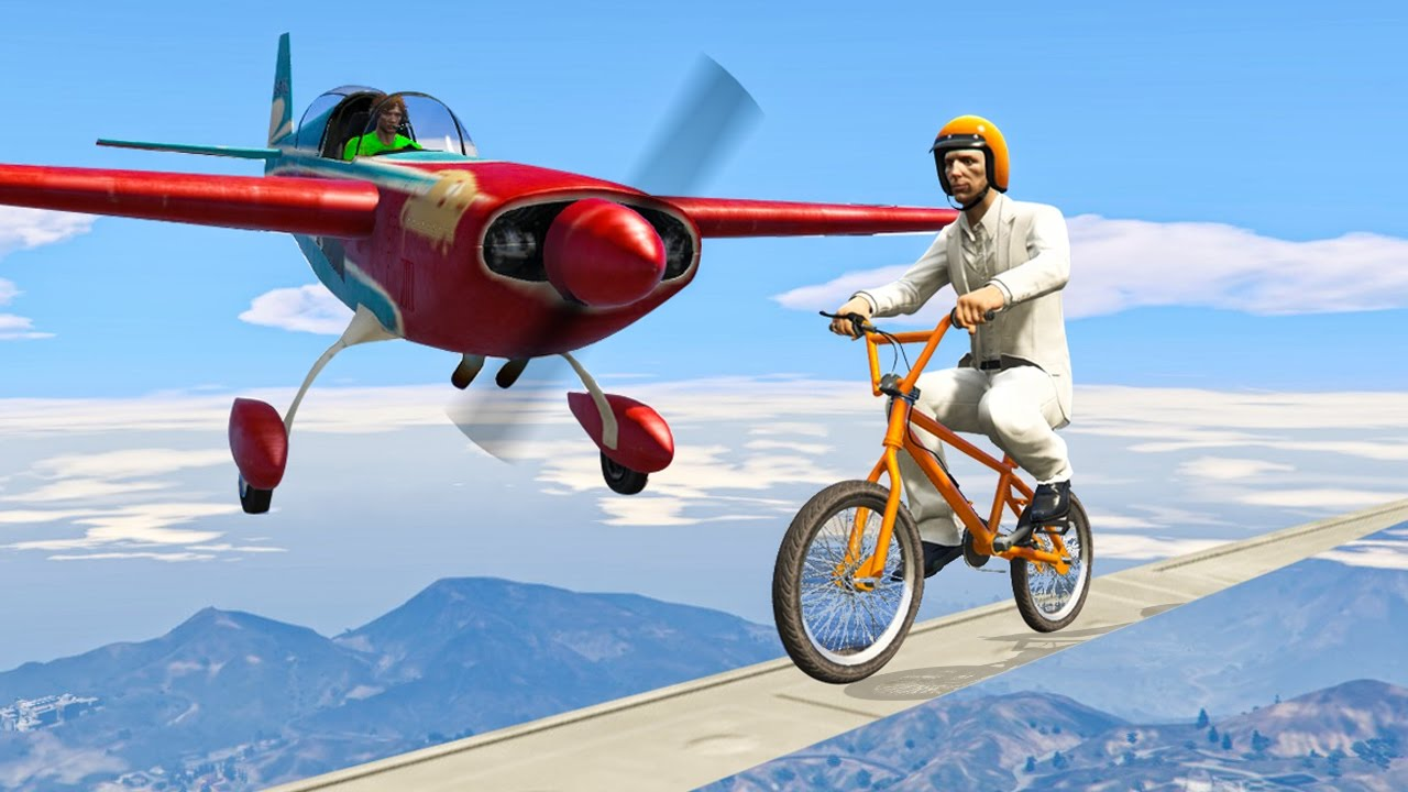 sky-high-bike-tightrope-planes-gta-5-funny-moments