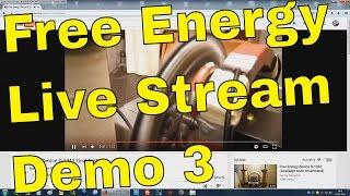 Free Energy Generator Innova Tehu Live Streaming Demo Part 3