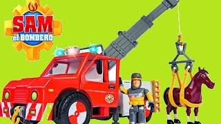 Sam el bombero juguetes Simba rescate animal, Salvavidas Vehículo Phoenix, Grúa de coches de Phoenix