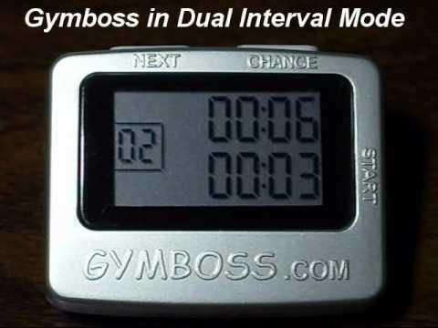 Original Gymboss Dual Interval Timer Mode | Up Close Demo