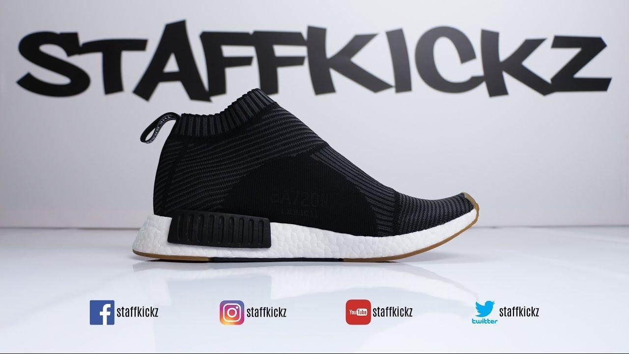 6ef0772958aa4 Adidas Nmd CS1 PK Primeknit City Sock BLACK Gum