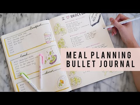 BULLET JOURNAL IDEAS | How To Meal Plan | ANN LE