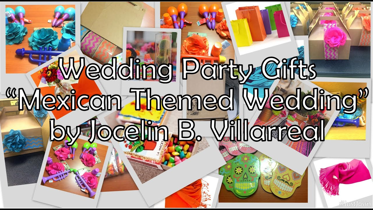 Wedding Party Gifts Mexican Themed