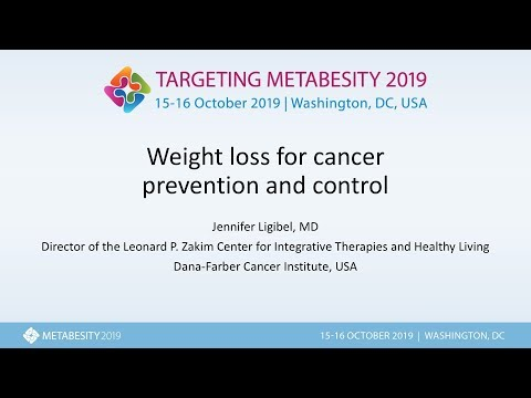 Weight loss for cancer prevention and control