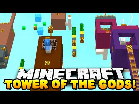 Minecraft - TOWER OF THE GODS PARKOUR! (Crazy Parkour) - w/ THE PACK!