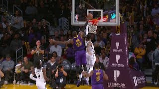 LeBron James Chase Down Block on D'Angelo Russell | Nets vs Lakers - March 22, 2019