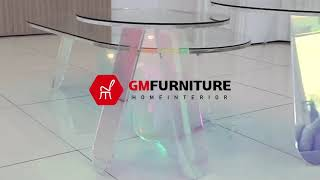지엠퍼니처-홀로그램 레인보우 거실 쇼파 테이블