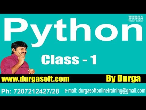 Learn Python Programming Tutorial Online Training by Durga S