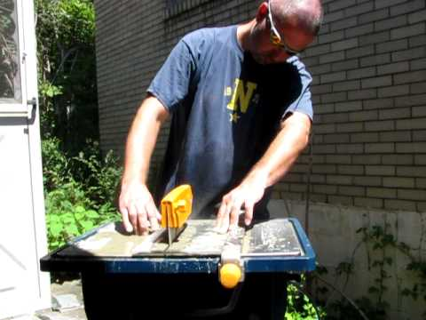 cutting slate tile with a wet saw youtube