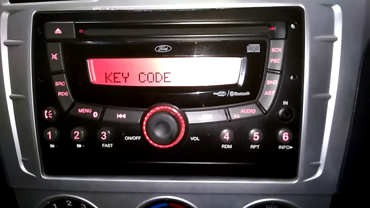 Ford Figo & Ford Fiesta cars, How to enter key Code in music system