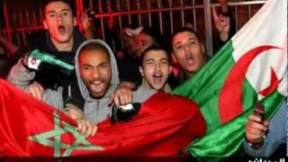 أنصار الرجاء البيضاوي المغربي تتغنى بالشعب الجزائري