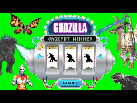Godzilla JACKPOT SPIN GAME Godzilla Monsters Toys Slime King Ghidorah, Gamera, Mothra Games