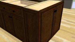 Design an Island with Wall Cabinet Ends