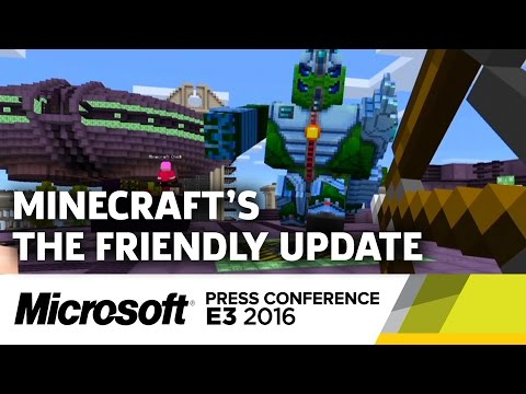 Minecraft The Friendly Update & VR Stage Demo - E3 2016 Microsoft Press Conference