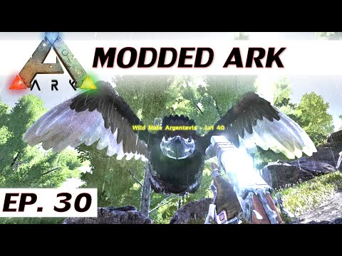 Modded ARK: Survival Evolved - Ep 30 - Tame an argentavis - single player let's play s3 - solo