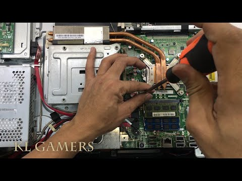 Acer Aspire All In One AIO Model Z3771 Desktop How To Disassemble Upgrade RAM Replace Thermal Paste