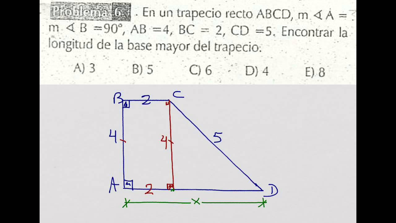 Cuadriláteros Trapecio Recto Base Mayor Youtube