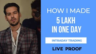 How  I Made Profit 500000 Rupees In One Day From Intraday Trading